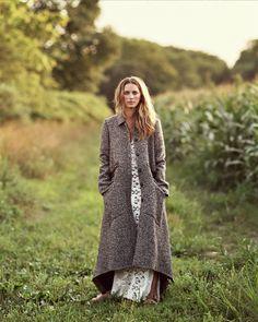 manteau en tweed, dentelle