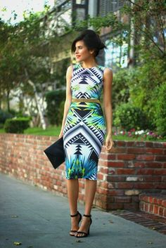 green abstract dress