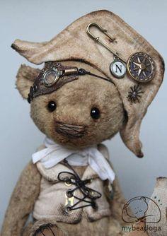 Steampunk bear Nelson by By Elena Karmatskaya | Bear Pile
