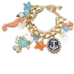 Betsey Johnson Bracelet, Sea Charm Toggle ($75) ❤ liked on Polyvore