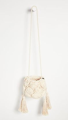 Nannacay Mari Bag | SHOPBOP How To Make Handbags, Tassels, Artisan, Knitting, Tricot, Cast On Knitting, Tassel, Craftsman, Knitting And Crocheting