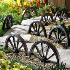 wagon wheel walk-way border set.