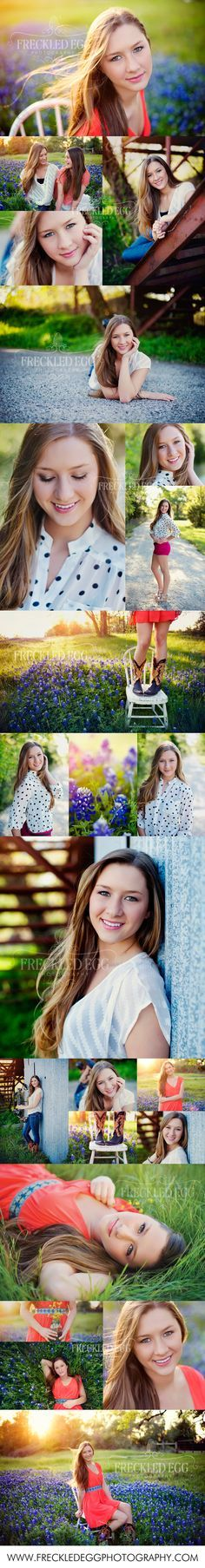 texas senior in the bluebonnets by the freckled egg photography