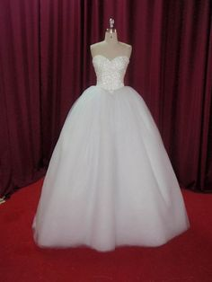 Strapless princess ballgown Wedding Dress by DreamNoviasDesigns, $574.95