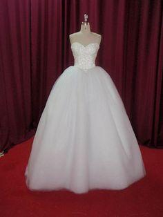 Strapless princess ballgown Wedding Dress by DreamNoviasDesigns, $574.95
