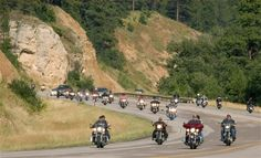 Bikers gather by the hundreds of thousands each August in the Black Hills for the Sturgis Motorcycle Rally.