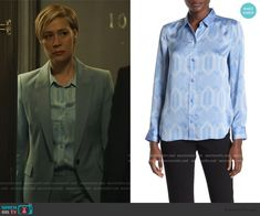 Bonnie Winterbottom Fashion on How to Get Away with Murder Liza Weil, How To Get Away, Printed Blouse, Wool Blend, Suit Jacket, Shirt Dress, Blazer, Fashion Outfits
