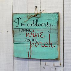 This hand-painted, wood sign will make a wonderful addition to your deck, porch, patio, outdoor space and rustic home decor. This sign can be done in any color you would like. This wall sign measures approximately 14x14. All of my creations are made of reclaimed pallet boards. They are hand-painted with happiness and love. All creations are made after they are ordered. Although I try to duplicate original as closely as possible, there may be slight variations because no two boards are…