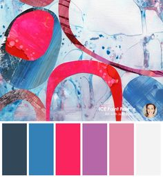 A cool colour palette from the original art by Jane Monteith