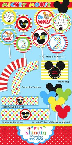 mickey mouse printable ideas