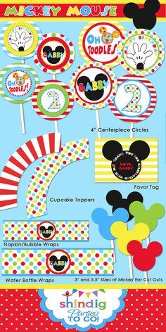 mickey mouse printable ideas