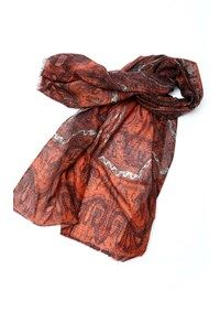 Pashmina,The Carpet Cellar,Pashmina Print Stole - Rusty Dawn<br>TD-333
