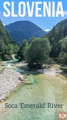 River in the Soca Valley Slovenia - Drive + Views + Activities Slovenia Travel Guide - Discover the unique Emerald Rive (Soca river) and its magnificent views in the Soca Valley with the Julian Alps - one of the best things to do in Slovenia Europe Travel Tips, Travel Goals, Travel Guide, Travel Destinations, Rafting, Cool Places To Visit, Places To Go, Slovenia Travel, Slovenia Tourism