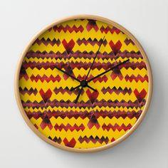 Ethnic diamond Wall Clock by Amanda Araujo - $30.00
