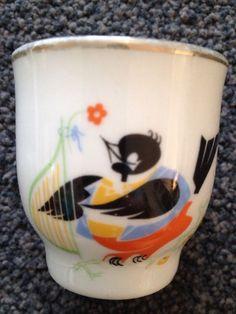 Rare Jarolina Karolina Egg Cup Poland Vintage