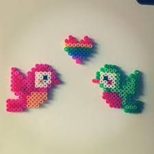 Birds perler beads by Melty Bead Patterns, Pearler Bead Patterns, Perler Patterns, Beading Patterns, Beading For Kids, Hama Beads Design, Peler Beads, Iron Beads, Melting Beads