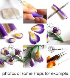 Polymer clay tutorial Sweet peas: necklace PDF by Marunich on Etsy Trending Craft Ideas Using Paper Polymer Clay Canes, Polymer Clay Flowers, Polymer Clay Miniatures, Fimo Clay, Polymer Clay Projects, Polymer Clay Creations, Polymer Clay Earrings, Clay Crafts, Polymer Beads