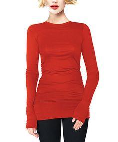 Look at this #zulilyfind! Red Crewneck Tunic by A La Tzarina #zulilyfinds