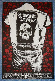 Municipal Waste poster