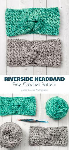 Fetching Earwarmer Free Crochet Patterns Riverside Headband Free Crochet Pattern Learn the rudiments Crochet Headband Free, Crochet Beanie, Knit Crochet, Crochet Scarves, Crochet Clothes, Crochet Crafts, Crochet Projects, Bonnet Crochet, Knitting Patterns