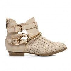 BOTKI CUT OUT Z ŁAŃCUSZKIEM C075BE /S3-76P Ankle, Boots, Shopping, Crotch Boots, Wall Plug, Shoe Boot