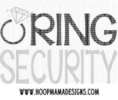 Ring Security SVG DXF EPS and png Files for Cutting Machines Cameo or Cricut Wedding