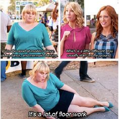 Love Fat Amy. This movie almost rivals the Hangover 1 & 2. Well Fat Amy rivals Zack G. in the Hangover that is.....