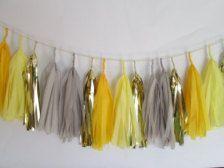 gray and yellow tassel garland - Google Search