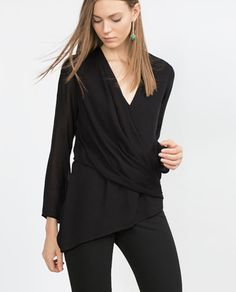 Image 2 of DRAPED TOP from Zara, gbp 29.99