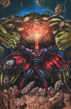 Superman vs Hulk - colors by *nahp75 | #comics