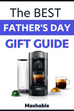 SURPRISE! The best gift ideas for Father's Day are right here. Mashable's outlined over 40 amazing gift ideas for every Father and grandfather on your list! Whether it's a gadget to make life easier, a sentimental keepsake, or something that you know Dad wants but refuses to buy, here are the best gift ideas for Father's Day at Mashable: #fathersdaygiftideas #fathersday #mashable Cool Fathers Day Gifts, Good Good Father, Drip Coffee Maker, Kids And Parenting, Nespresso, Gadget, Best Gifts, How To Memorize Things, Parents