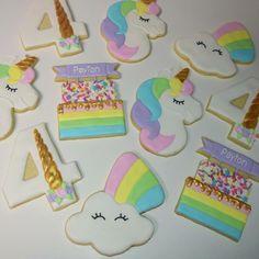 Decorated Unicorn Birthday Cookies