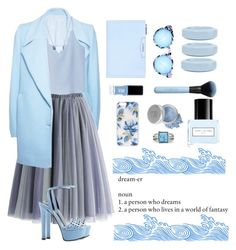 """Monochrome blue"" by joklp ❤ liked on Polyvore featuring FAIR+true, MANGO, Gucci, Givenchy, Quay, MM6 Maison Margiela, JINsoon, Marc Jacobs, Mineral Essence and Sonix"