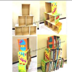Easy to do with wood,  pushed in the corner to create a lot of book storage