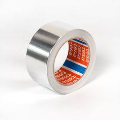 Cinta adhesiva aluminio Tesa - Cinta adhesiva de aluminio Tesa para reparaciones en cualquier superficie metálica, como carrocerías de automóviles, techos, goteras o aparatos de calefacción.