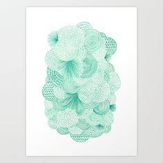 Green Fields Art Print by Marcelo Romero - $17.00