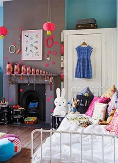 Olive (10) bedroom taken from my book www.creativefamilyhome.com in a feature in Ithe Telegraph magazine.