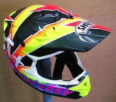 Hand Painted Shoei Motocross Helmet #121 ~ Helmets4Fun - Hand Painted Helmets