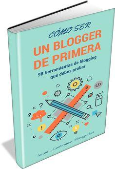 Portada 3D del libro con las 98 herramientas de blogging