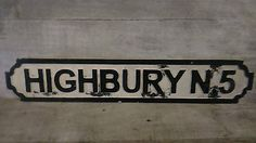 #Highbury n.5 wooden road sign 32 inches long #arsenal #football gift,  View more on the LINK: http://www.zeppy.io/product/gb/2/281905745572/