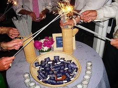 sparkler send off with cute match boxes