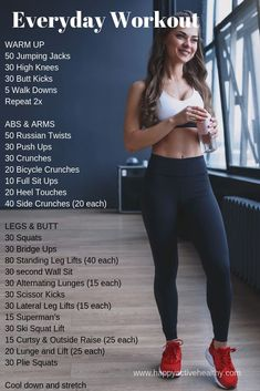 Get a full body workout at home. These are perfect 30 day fitness challenges. For women and men, even if you're a beginner. You can do these with or without weights, they require no equipment. If your goal is weight loss, getting tone, building muscle, or staying fit, these are great workouts. Awesome full body workout routine, quick and easy, and great for fat burning. Get a great body in 30 days. #fullbodyworkout #athome #30daychallenge #fitnesschallenge #weightloss…