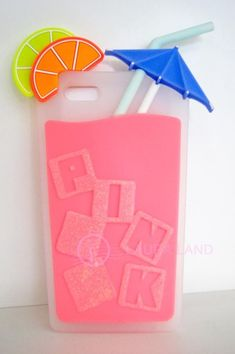 THE CUTEST PHONE CASE EVER!  New~Victoria's Secret PINK iPhone 5 Case Limited Edition ICE CUBE COCKTAIL GLASS