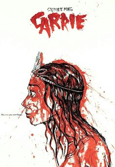 Carrie 1974 by Stephen King Carrie Stephen King, Stephen King Novels, Steven King, Movie Poster Art, Film Posters, Carrie Movie, Carry On Book, Evil Dead, Carrie White