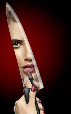 Scream Queens Season 1, Scream Queens 2015, Queen Aesthetic, Red Aesthetic, Chernobyl, Emma Roberts, Chanel Oberlin, 2015 Tv, Billie Lourd