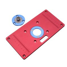 Ujk technology 6mm aluminium router table insert plate router 233x117x8mm aluminum router table insert plate for woodworking benches rt0700c router trimmer red sale keyboard keysfo Images