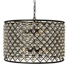 Check CHANDELIER Cassiel Crystal Drum Chandelier, Black Ceiling ideas Add a shimmering glow to your room with the Cassiel Crystal Drum Chandelier. This chandelier features eight lights surro. Edison Chandelier, Black Chandelier, Chandeliers, Chandelier Ideas, Pendant Lamps, Pendants, Tambour, Contemporary Light Fixtures, Glass Ball