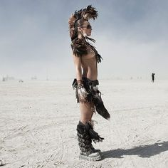 Burning Man...What a cool picture.