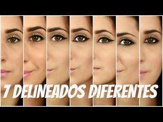 COMO: Delinear tus ojos | 7 Formas Diferentes - YouTube