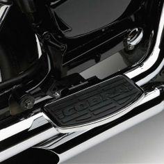 Cobra Passenger Floorboards for 2000-2007 Honda VT1100 Sabre Cobra Engineers designed a more forward foot position. Made of billet CNC machined aluminum finished in bright chrome. Rubber foot insert matches Cobra front floorboard for added style. Made in the USA.  #Cobra_Enterprises #Automotive_Parts_and_Accessories